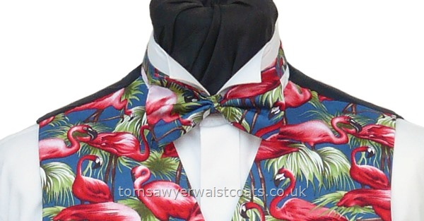 New Season Flamingos Pre-Tied Bowtie