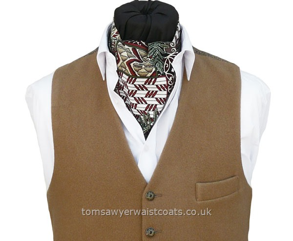 Maori Pattern Cotton Day Cravat (Self-tie)