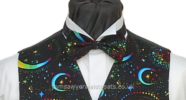 Moons and Stars Pre-Tied Bowtie
