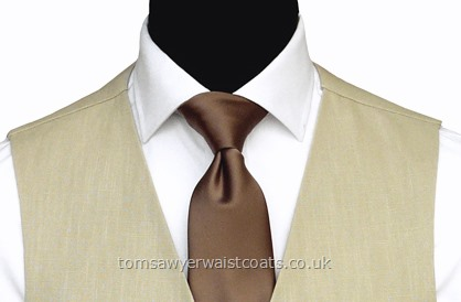 Order the featured neckwear here. Our picture shows the following:- Style- Necktie (Men's)- Colour- Mid Brown (F28)- Fabric- Polyester Satin- Save 15% when you order 6 or more men's neckties in the same colour & fabric!