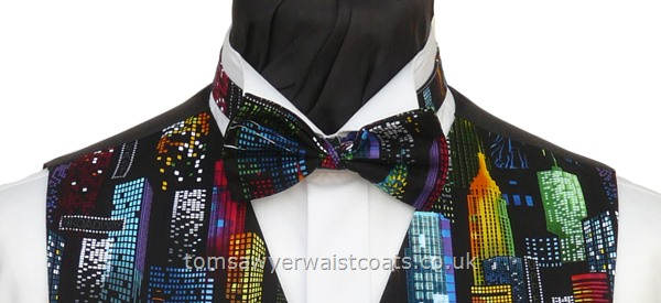 New York City SKyline Pre-tied Bowtie