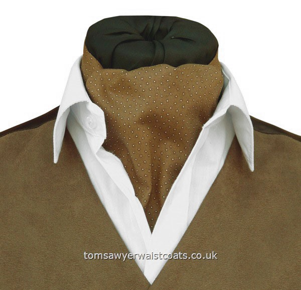 Ruston Sandy Brown Cotton Day Cravat