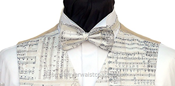 Sheet Music Pre-Tied Bowtie