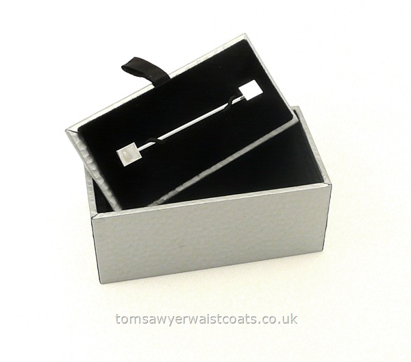 Gifts & Accessories : Armbands : Shirt Collar Pin - Barbell Style Collar Bar with cube ends