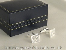 Diamante Cufflinks in Silver Coloured Setting