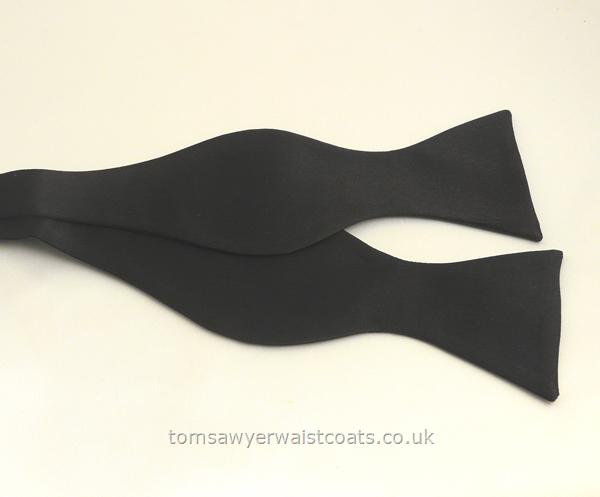 Neckwear : Bowties (Self-tie) : Black Satin Self-Tie Bowtie
