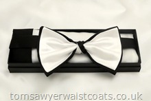 Black and White Bowtie with matching hankie