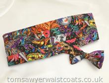 Masquerade Carnival Pattern Bowtie and Cummerbund Set