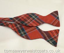 Royal Stewart Tartan Silk Self-Tie Bowtie