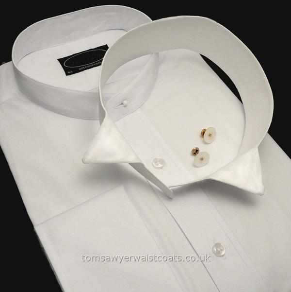 Gifts & Accessories : Steampunk Accessories : Collarless White Shirt with Detachable Collar