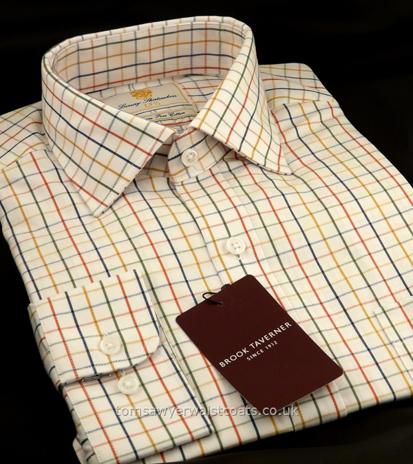 Shirts : Standard Collar Shirts : Country Check Shirt with Standard Collar