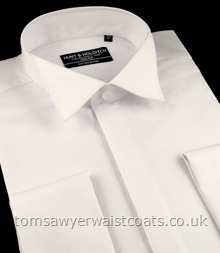 York Swept Wing Collar Shirt, Regular Length in White