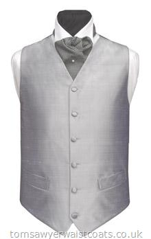 Plain Silk Waistcoat - non Silk back and linings Available in over 20 silk colours