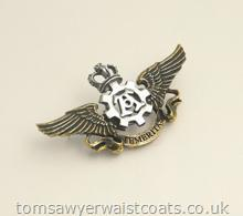 Temeritas Wings Steampunk Pin Badge