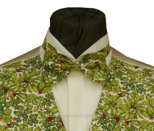 Christmas : Christmas Bowties : Holly and Ivy Festive Bowtie