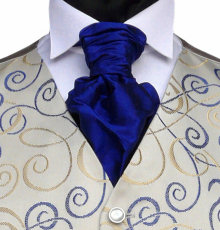 Featured Neckwear - Classic Blue Pre-Tied Scrunchie
