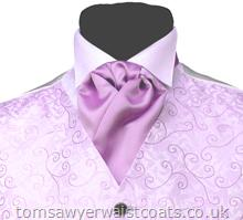 Mens Ready Tied Cravat available in a choice of over 50 colours