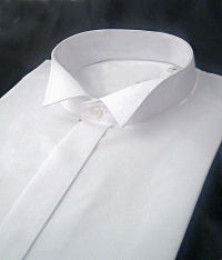 White Wing Collar Dress Shirt Regular Length