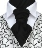 Featured Neckwear - Black Satin Pre-Tied Scrunchie